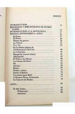 Contracubierta de RUBEN DARÍO. POESÍAS ESCOGIDAS. EDICIÓN DE ANTONIO OLIVER BELMÁS.. Ediciones 29 1982
