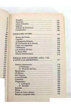 Muestra 2 de RUBEN DARÍO. POESÍAS ESCOGIDAS. EDICIÓN DE ANTONIO OLIVER BELMÁS.. Ediciones 29 1982