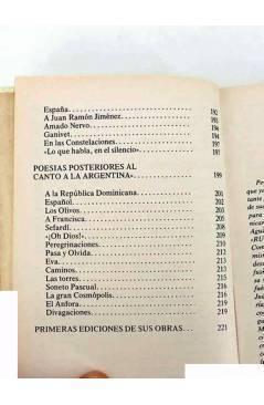 Muestra 3 de RUBEN DARÍO. POESÍAS ESCOGIDAS. EDICIÓN DE ANTONIO OLIVER BELMÁS.. Ediciones 29 1982