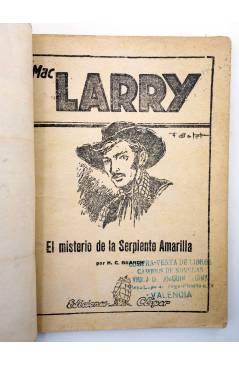 Muestra 1 de MAC LARRY 23. El misterio de la Serpiente Amarilla (H.C. Granch) Cliper 1946