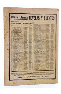 Contracubierta de REVISTA LITERARIA NOVELAS Y CUENTOS 182. EL DON JUAN DE VIRELOUP (Andres Theuriet) Dédalo 1932