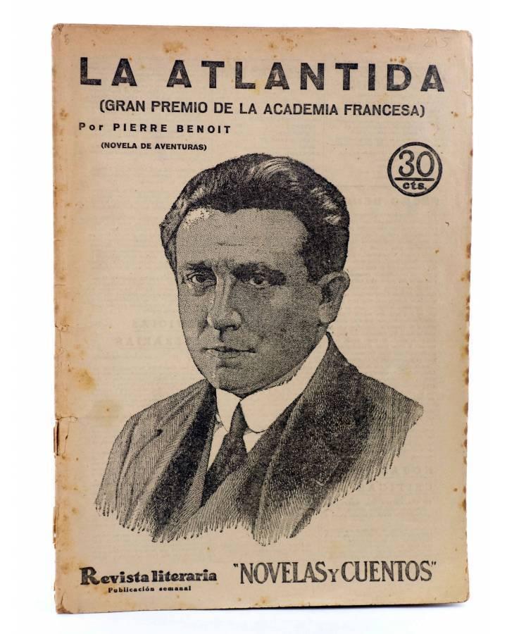 Cubierta de REVISTA LITERARIA NOVELAS Y CUENTOS 215. LA ATLÁNTIDA (Pierre Benoit) Dédalo 1933