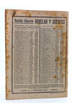 Contracubierta de REVISTA LITERARIA NOVELAS Y CUENTOS 215. LA ATLÁNTIDA (Pierre Benoit) Dédalo 1933
