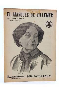 Cubierta de REVISTA LITERARIA NOVELAS Y CUENTOS 221. EL MARQUÉS DE VILLEMER (Jorge Sand) Dédalo 1933