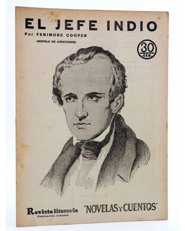 Cubierta de REVISTA LITERARIA NOVELAS Y CUENTOS 246. EL JEFE INDIO (Fenimore Cooper) Dédalo 1933