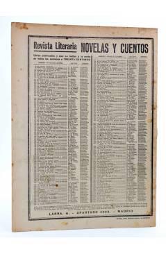 Contracubierta de REVISTA LITERARIA NOVELAS Y CUENTOS 246. EL JEFE INDIO (Fenimore Cooper) Dédalo 1933