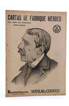 Cubierta de REVISTA LITERARIA NOVELAS Y CUENTOS 247. CARTAS DE FADRIQUE MENDES (Eça De Queiroz) Dédalo 1933