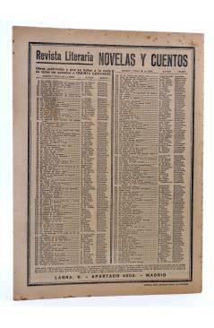 Contracubierta de REVISTA LITERARIA NOVELAS Y CUENTOS 247. CARTAS DE FADRIQUE MENDES (Eça De Queiroz) Dédalo 1933