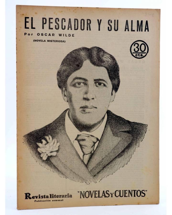 Cubierta de REVISTA LITERARIA NOVELAS Y CUENTOS 248. EL PESCADOR Y SU ALMA (Oscar Wilde) Dédalo 1933