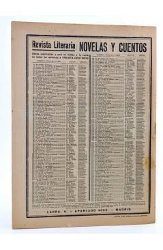 Contracubierta de REVISTA LITERARIA NOVELAS Y CUENTOS 248. EL PESCADOR Y SU ALMA (Oscar Wilde) Dédalo 1933