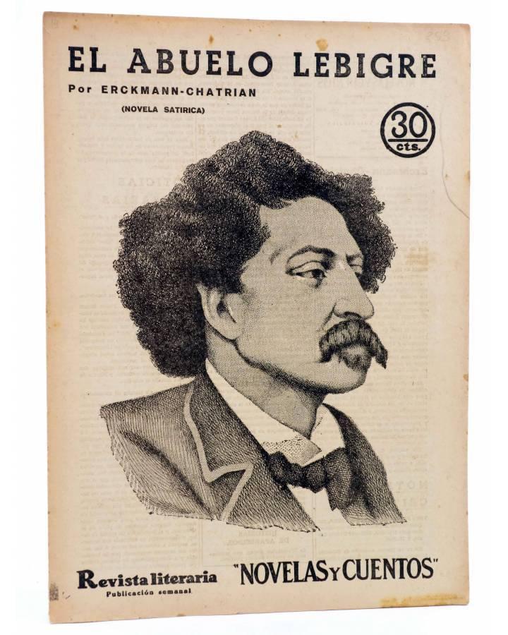 Cubierta de REVISTA LITERARIA NOVELAS Y CUENTOS 253. EL ABUELO LEBIGRE (Erckmann-Chatrian) Dédalo 1933