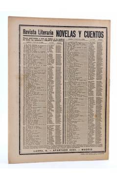 Contracubierta de REVISTA LITERARIA NOVELAS Y CUENTOS 253. EL ABUELO LEBIGRE (Erckmann-Chatrian) Dédalo 1933