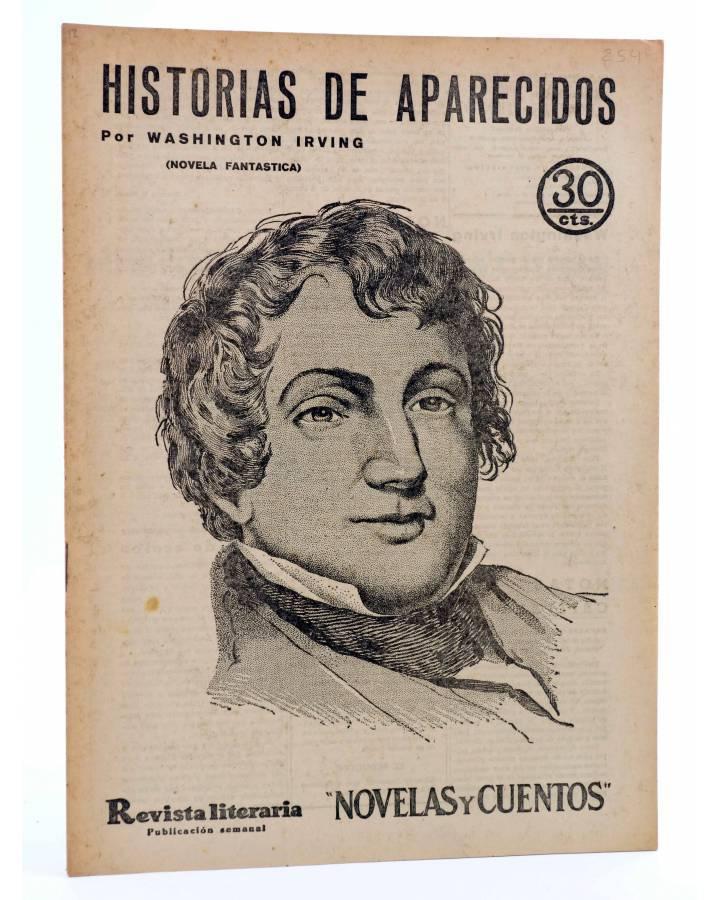 Cubierta de REVISTA LITERARIA NOVELAS Y CUENTOS 254. HISTORIAS DE APARECIDOS (Washington Irving) Dédalo 1933