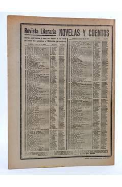 Contracubierta de REVISTA LITERARIA NOVELAS Y CUENTOS 254. HISTORIAS DE APARECIDOS (Washington Irving) Dédalo 1933