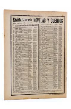 Contracubierta de REVISTA LITERARIA NOVELAS Y CUENTOS 255. EL SEDUCTOR (Eduardo Zamacois) Dédalo 1933