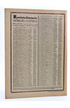 Contracubierta de REVISTA LITERARIA NOVELAS Y CUENTOS 260. LA VENGANZA DE UNA HIJA (Paul Feval) Dédalo 1933
