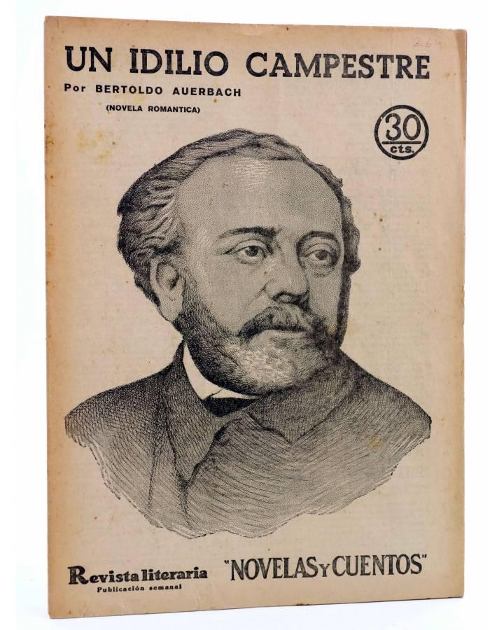 Cubierta de REVISTA LITERARIA NOVELAS Y CUENTOS 264. UN IDILIO CAMPESTRE (Bertoldo Auerbach) Dédalo 1934