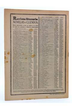 Contracubierta de REVISTA LITERARIA NOVELAS Y CUENTOS 264. UN IDILIO CAMPESTRE (Bertoldo Auerbach) Dédalo 1934