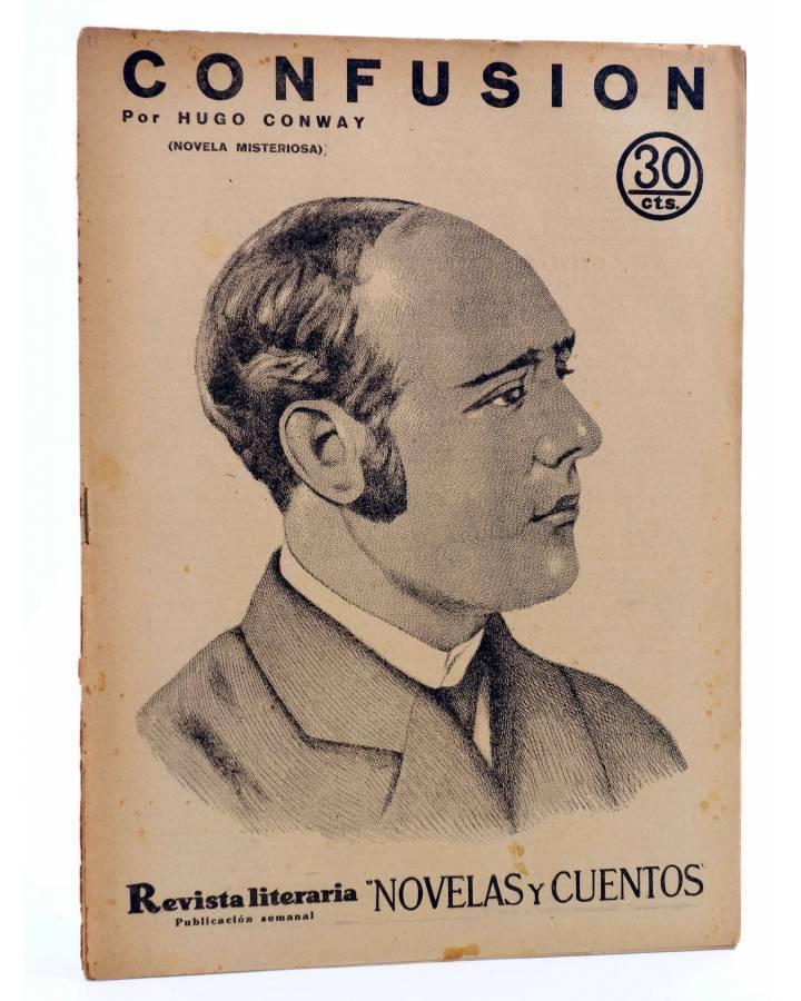 Cubierta de REVISTA LITERARIA NOVELAS Y CUENTOS 266. CONFUSIÓN (Hugo Conway) Dédalo 1934