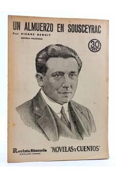 Cubierta de REVISTA LITERARIA NOVELAS Y CUENTOS 268. UN ALMUERZO EN SOUSCEYRAC (Pierre Benoit) Dédalo 1934