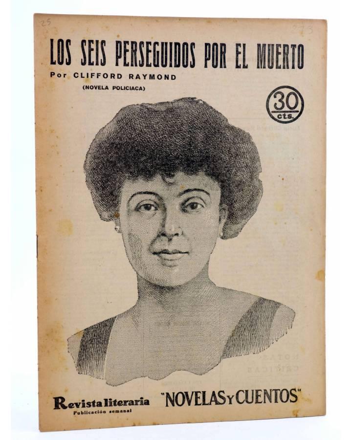 Cubierta de REVISTA LITERARIA NOVELAS Y CUENTOS 273. LOS SEIS PERSEGUIDOS POR EL MUERTO (C Raymond) Dédalo 1934