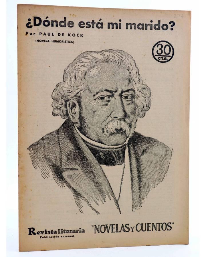 Cubierta de REVISTA LITERARIA NOVELAS Y CUENTOS 276. ¿DÓNDE ESTÁ MI MARIDO? (Paul De Kock) Dédalo 1934