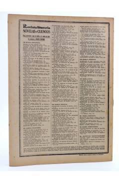 Contracubierta de REVISTA LITERARIA NOVELAS Y CUENTOS 276. ¿DÓNDE ESTÁ MI MARIDO? (Paul De Kock) Dédalo 1934