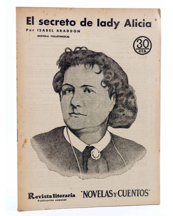 Cubierta de REVISTA LITERARIA NOVELAS Y CUENTOS 277. EL SECRETO DE LADY ALICIA (Isabel Braddon) Dédalo 1934