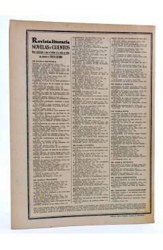 Contracubierta de REVISTA LITERARIA NOVELAS Y CUENTOS 277. EL SECRETO DE LADY ALICIA (Isabel Braddon) Dédalo 1934