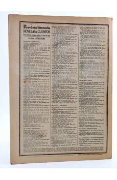 Contracubierta de REVISTA LITERARIA NOVELAS Y CUENTOS 284. EL PROFESOR JUDASSOHN (Alfredo Assollant) Dédalo 1934