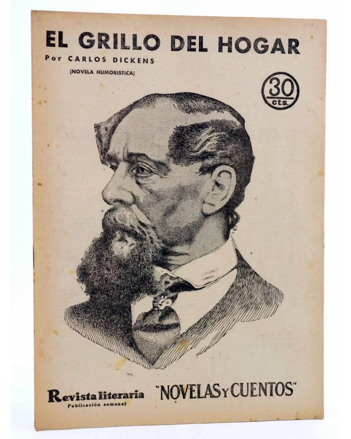 Cubierta de REVISTA LITERARIA NOVELAS Y CUENTOS 291. EL GRILLO DEL HOGAR (Carlos Dickens) Dédalo 1934