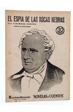 Cubierta de REVISTA LITERARIA NOVELAS Y CUENTOS 292. EL ESPÍA DE LAS ROCAS NEGRAS (Fenimore Cooper) Dédalo 1934
