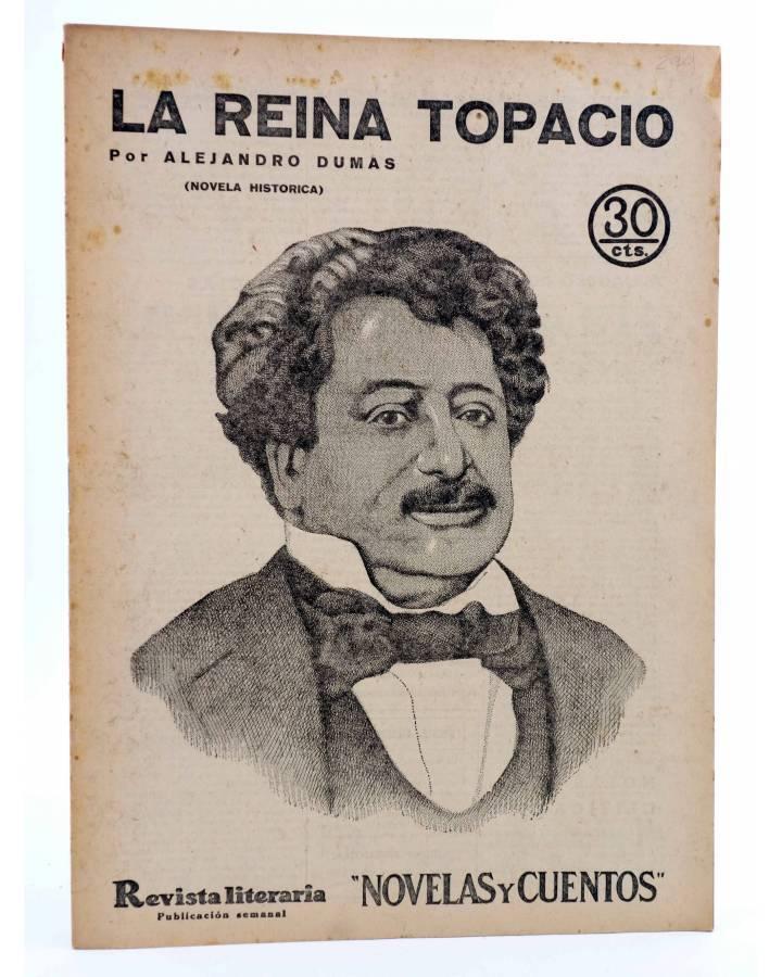 Cubierta de REVISTA LITERARIA NOVELAS Y CUENTOS 299. LA REINA TOPACIO (Alejandro Dumas) Dédalo 1934