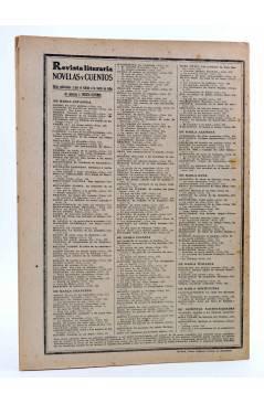 Contracubierta de REVISTA LITERARIA NOVELAS Y CUENTOS 299. LA REINA TOPACIO (Alejandro Dumas) Dédalo 1934