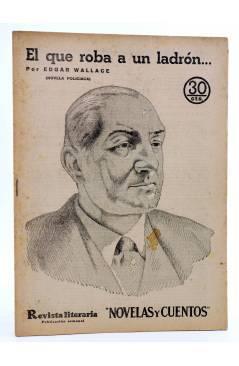 Cubierta de REVISTA LITERARIA NOVELAS Y CUENTOS 306. EL QUE ROBA A UN LADRÓN… (Edgar Wallace) Dédalo 1934