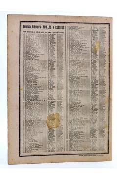 Contracubierta de REVISTA LITERARIA NOVELAS Y CUENTOS 306. EL QUE ROBA A UN LADRÓN… (Edgar Wallace) Dédalo 1934