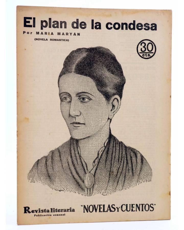 Cubierta de REVISTA LITERARIA NOVELAS Y CUENTOS 317. EL PLAN DE LA CONDESA (Maria Maryan) Dédalo 1935
