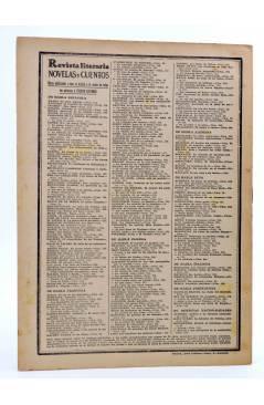 Contracubierta de REVISTA LITERARIA NOVELAS Y CUENTOS 317. EL PLAN DE LA CONDESA (Maria Maryan) Dédalo 1935