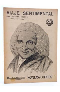 Cubierta de REVISTA LITERARIA NOVELAS Y CUENTOS 338. VIAJE SENTIMENTAL (Lorenzo Sterne) Dédalo 1935