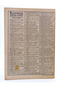 Contracubierta de REVISTA LITERARIA NOVELAS Y CUENTOS 338. VIAJE SENTIMENTAL (Lorenzo Sterne) Dédalo 1935