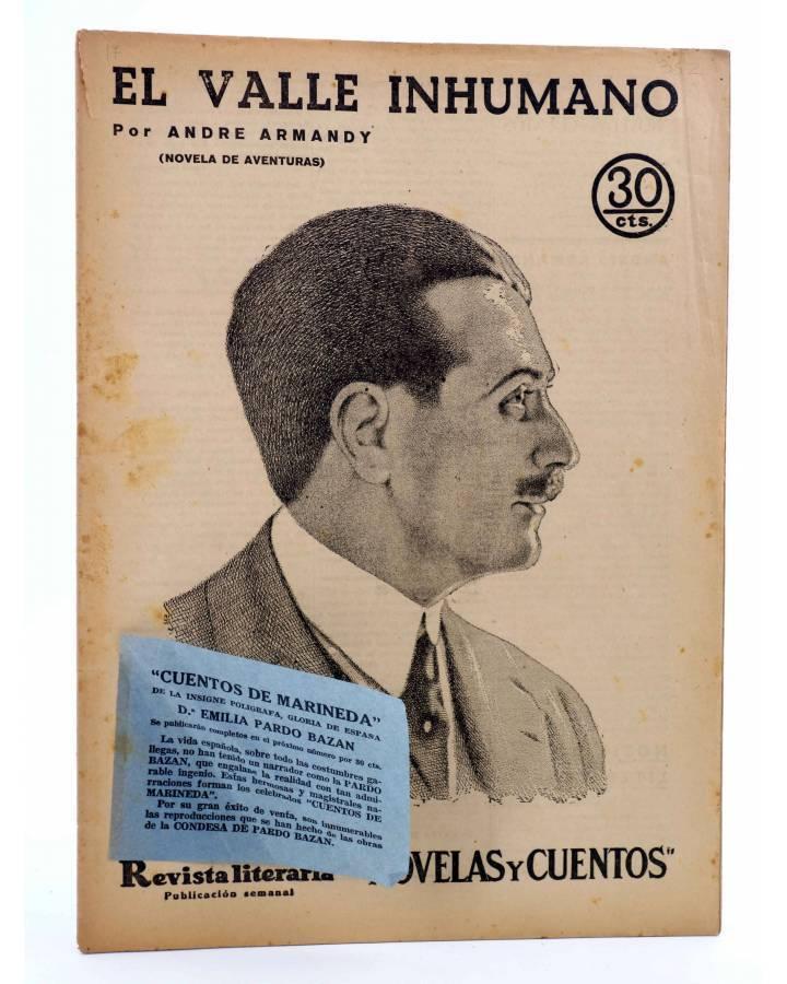 Cubierta de REVISTA LITERARIA NOVELAS Y CUENTOS 352. EL VALLE INHUMANO (André Armandy) Dédalo 1935