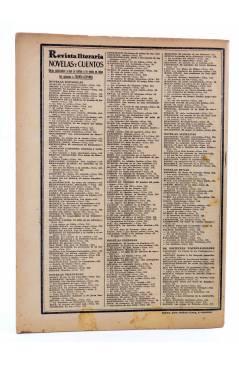 Contracubierta de REVISTA LITERARIA NOVELAS Y CUENTOS 352. EL VALLE INHUMANO (André Armandy) Dédalo 1935