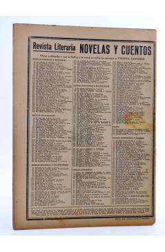 Contracubierta de REVISTA LITERARIA NOVELAS Y CUENTOS 367. EL CABALLERO DE LA TABERNA (Rafael Sabatini) Dédalo 1936
