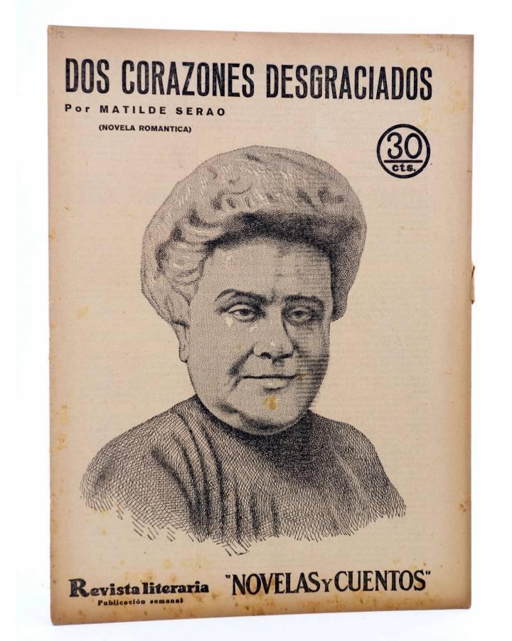Cubierta de REVISTA LITERARIA NOVELAS Y CUENTOS 371. DOS CORAZONES DESGRACIADOS (Matilde Serao) Dédalo 1936