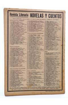 Contracubierta de REVISTA LITERARIA NOVELAS Y CUENTOS 373. LA VENGANZA DEL AMOR (Octavio Feuillet) Dédalo 1936