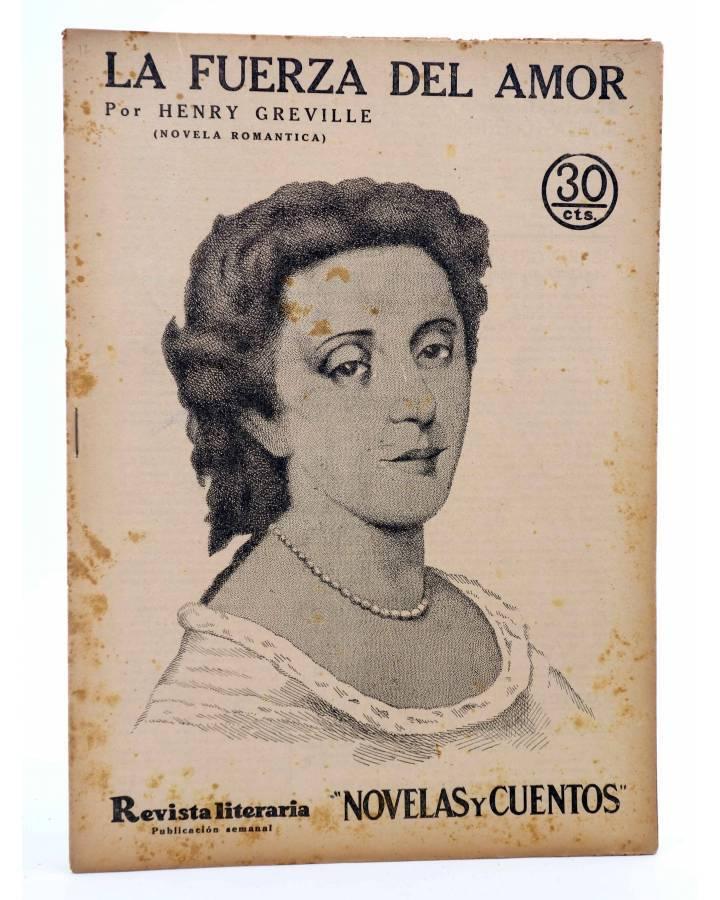 Cubierta de REVISTA LITERARIA NOVELAS Y CUENTOS 385. LA FUERZA DEL AMOR (Henry Greville) Dédalo 1936