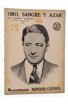 Cubierta de REVISTA LITERARIA NOVELAS Y CUENTOS 395. ORO SANGRE Y AZAR (Danny Ahearn) Dédalo 1936