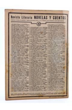 Contracubierta de REVISTA LITERARIA NOVELAS Y CUENTOS 395. ORO SANGRE Y AZAR (Danny Ahearn) Dédalo 1936