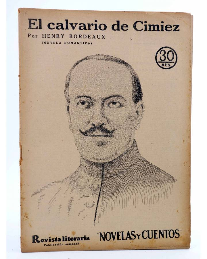 Cubierta de REVISTA LITERARIA NOVELAS Y CUENTOS 400. EL CALVARIO DE CIMIEZ (Henry Bordeaux) Dédalo 1936