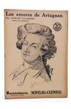 Cubierta de REVISTA LITERARIA NOVELAS Y CUENTOS 402. LOS AMORES DE ARTAGNAN (Adrien Guignery) Dédalo 1936